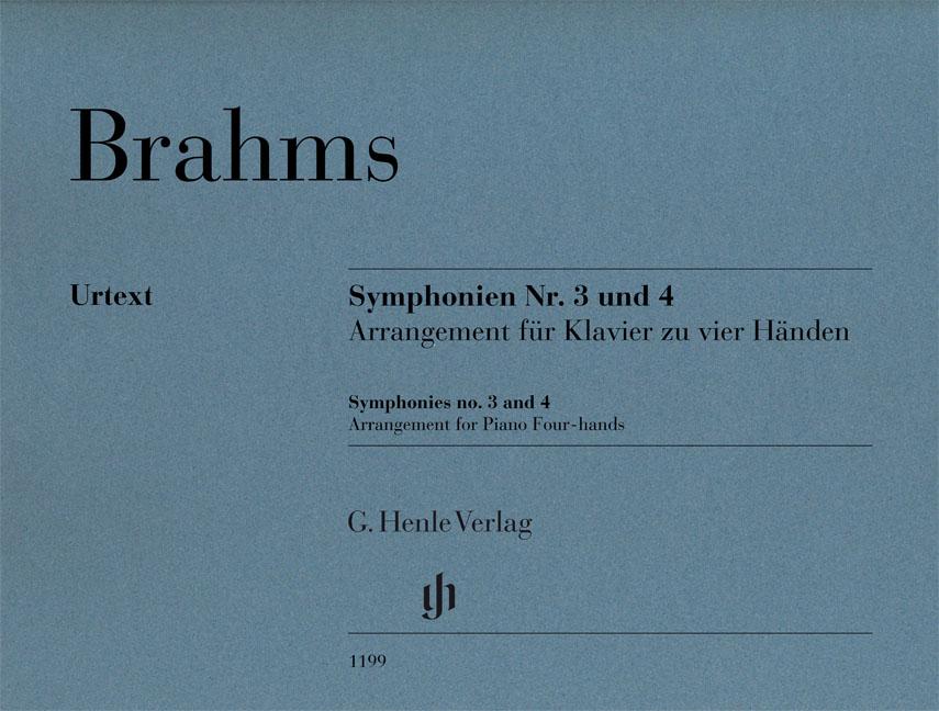 Johannes Brahms: Symphonies No. 3 And 4 - Arrangement: Piano Duet: Instrumental