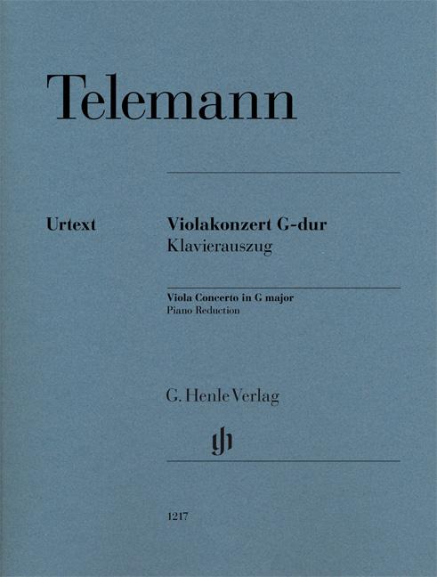 Georg Philipp Telemann: Viola Concerto In G Major: Viola: Score