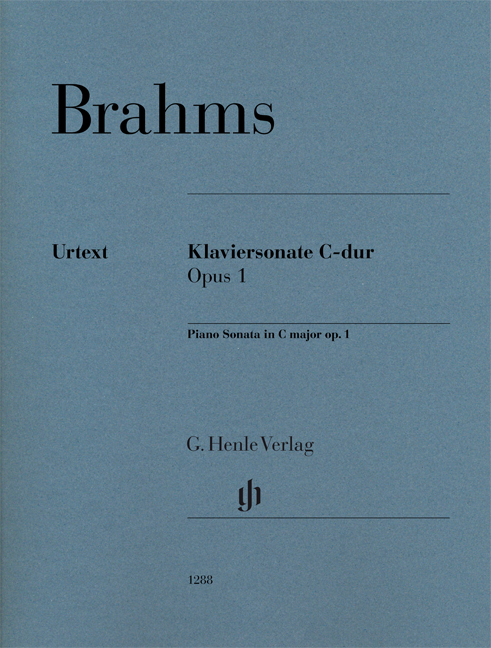 Johannes Brahms: Piano Sonata In C Op. 1: Piano: Instrumental Work