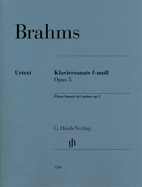 Johannes Brahms: Piano Sonata In F Minor Op 5 Piano: Piano: Instrumental Work