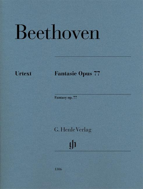 Ludwig van Beethoven: Fantasy Op. 77: Piano: Instrumental Work