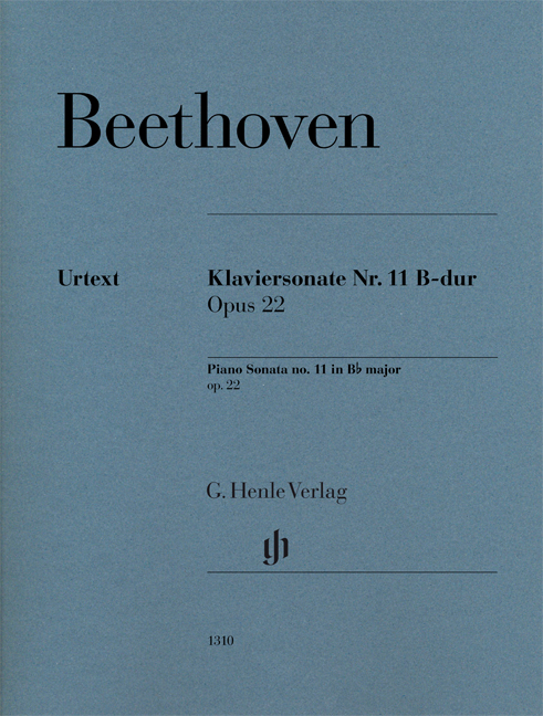 Ludwig van Beethoven: Piano Sonata No. 11 In B Flat Op. 22: Piano: Instrumental