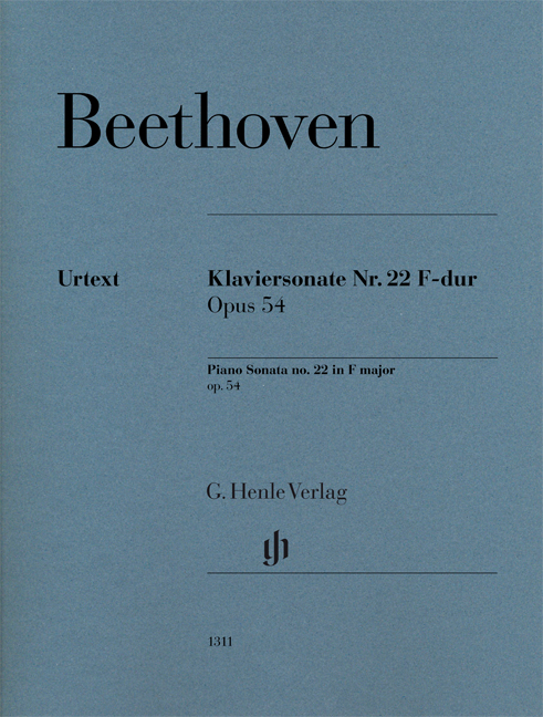 Ludwig van Beethoven: Piano Sonata No. 22 In F Op. 54: Piano: Instrumental Album