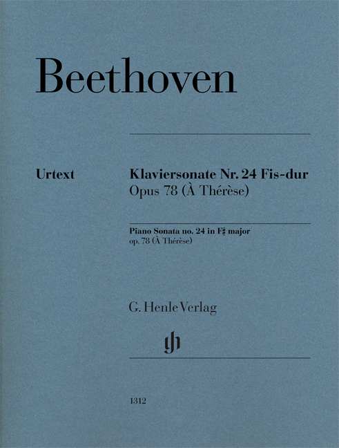 Ludwig van Beethoven: Piano Sonata No. 24 In F Sharp Op. 78: Piano: Instrumental