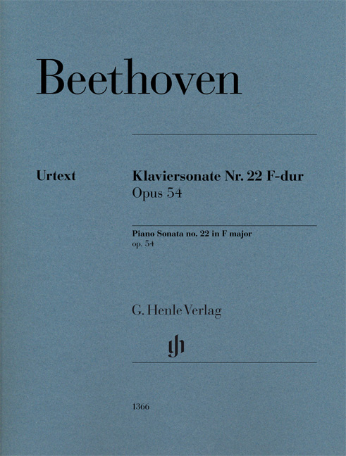 Ludwig van Beethoven: Piano Sonata No. 22 in F Major Op. 54: Piano: Instrumental