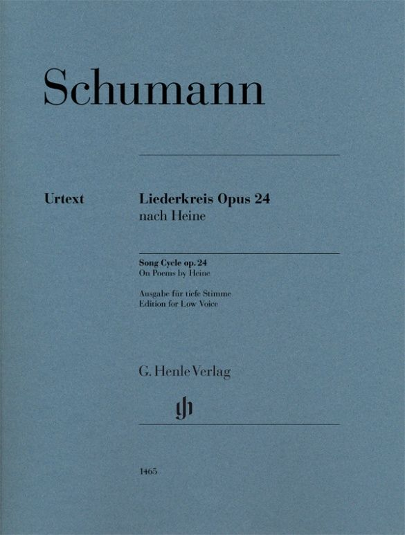 Robert Schumann: Song Cycle op. 24 on Poems by Heine: Low Voice: Vocal Album