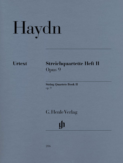 Franz Joseph Haydn: String Quartets Volume II Op.9: String Quartet: Score and