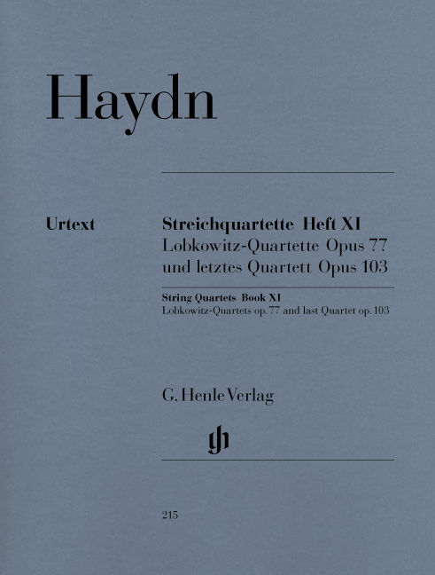 Franz Joseph Haydn: String Quartets Op.77 And Op.103: String Quartet: Parts