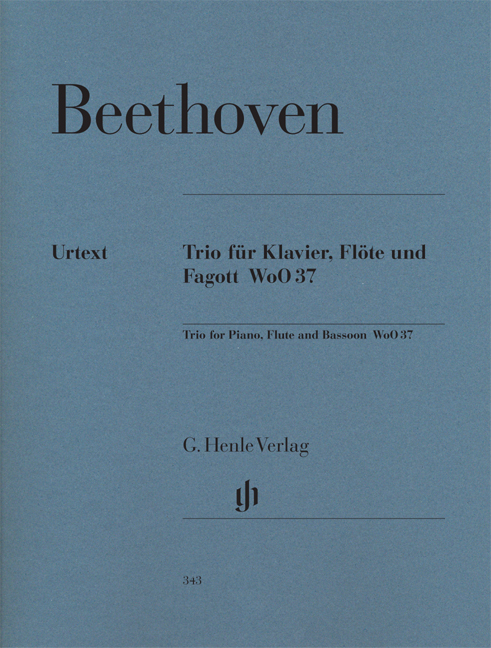 Ludwig van Beethoven: Trio For Piano  Flute And Bassoon WoO 37: Chamber