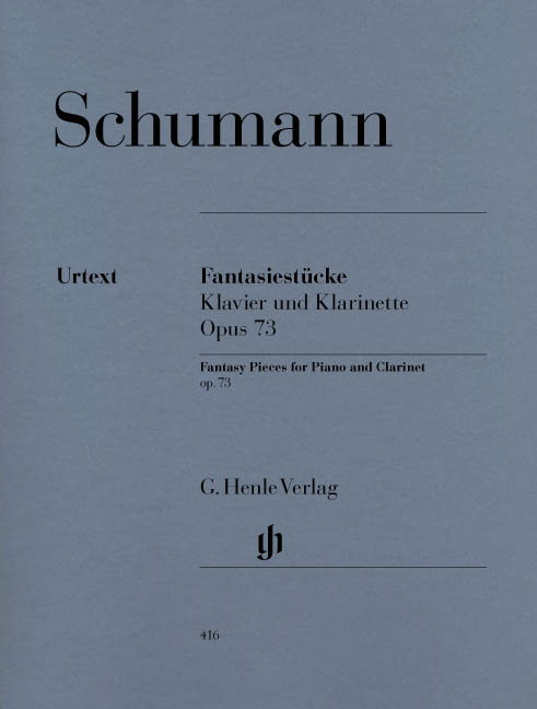 Robert Schumann: Fantasy Pieces For Clarinet And Piano Op.73: Clarinet: