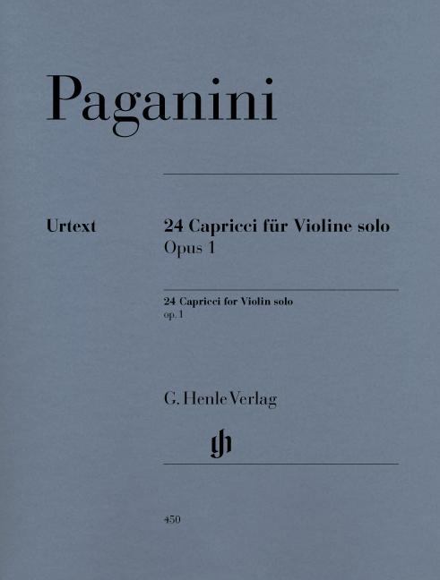 Niccolò Paganini: 24 Capricci op. 1: Violin: Instrumental Album
