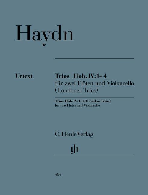Franz Joseph Haydn: Trios Fur Zwei Floten Und Violoncello: Flute & Cello: Score