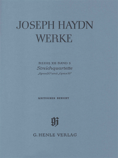 Franz Joseph Haydn: String Quartets Op.20 And Op.33: String Quartet: Reference