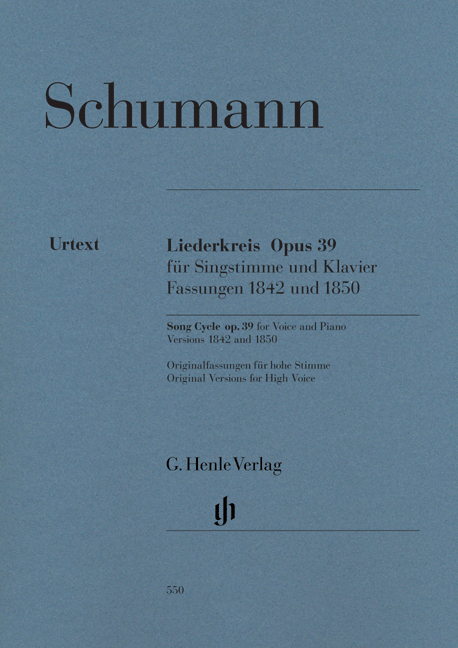 Robert Schumann: Song Cycle Op.39 for Voice and Piano: Voice: Vocal Work