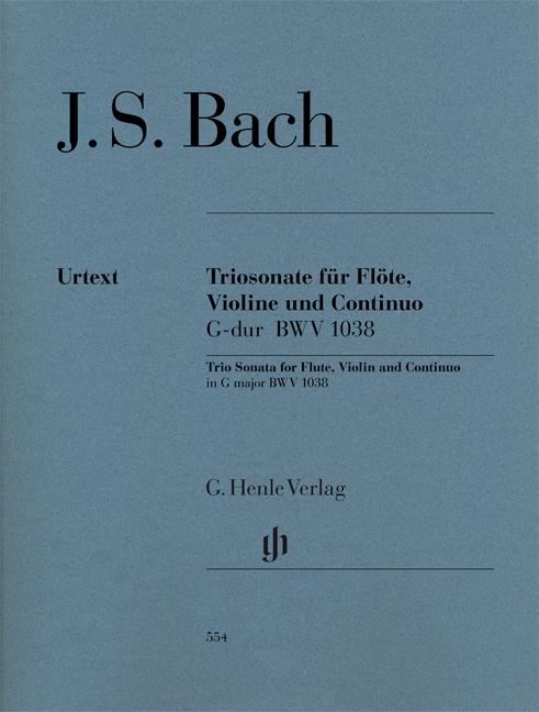 Johann Sebastian Bach: Trio Sonata In G BWV 1038: Flute & Violin: Score and
