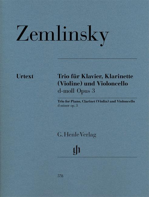 Alexander Zemlinsky: Clarinet Trios D Minor Op. 3 For Piano  Clarinet: Ensemble: