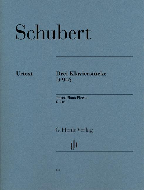 Franz Schubert: Three Piano Pieces - Impromptus - D946 Post.: Piano: