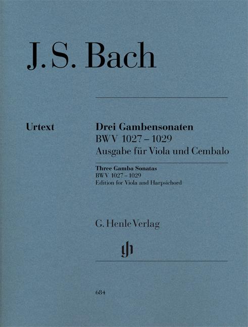Johann Sebastian Bach: Sonatas for Viola da Gamba and Harpsichord: Viola: