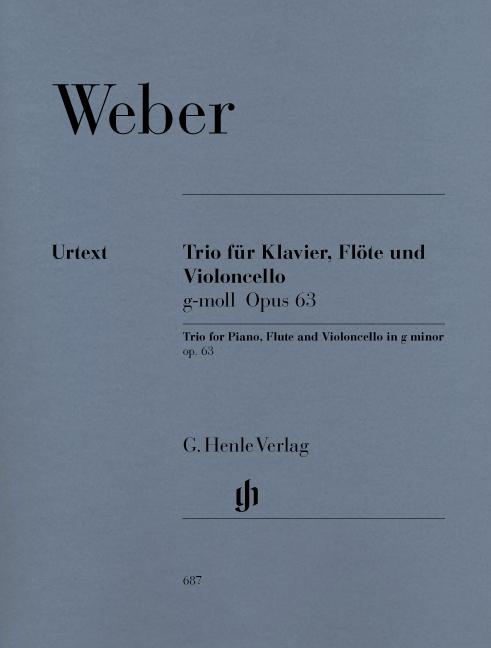 Carl Maria von Weber: Trio In G Minor Op.63: Piano Trio: Score and Parts