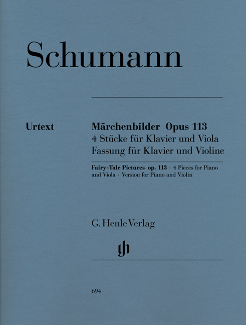 Robert Schumann: Fairy-Tale Pictures For Violin And Piano Op.113: Violin: