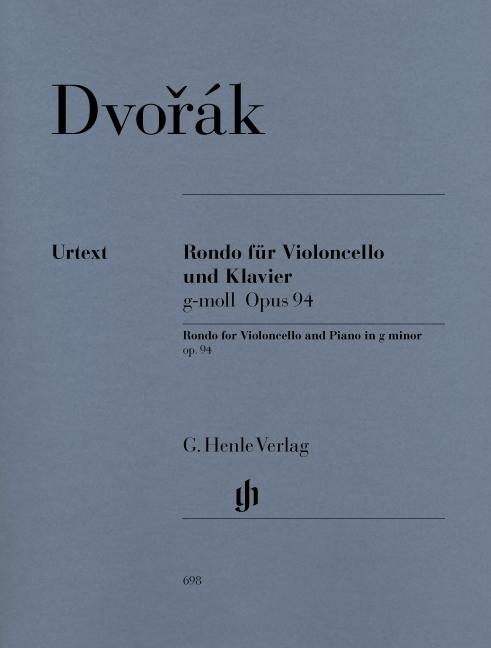 Antonín Dvo?ák: Rondo Fur Violoncello Und Klavier Op. 94: Cello: Instrumental