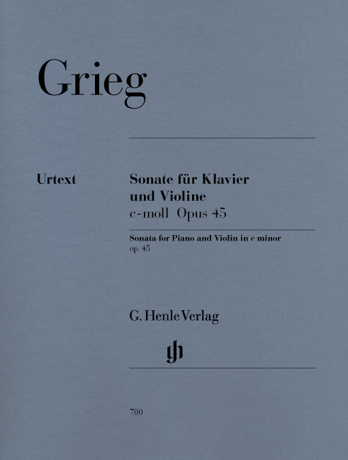 Edvard Grieg: Sonata For Piano And Violin In C Minor Op.45: Violin: Instrumental