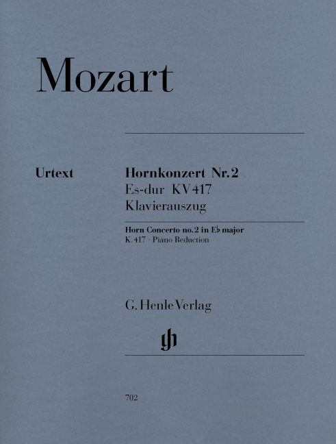 Wolfgang Amadeus Mozart: Horn Concerto No.2 In E Flat K.417: French Horn: