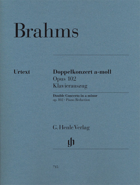 Johannes Brahms: Double Concerto A Minor Op. 102: Piano Trio: Score and Parts