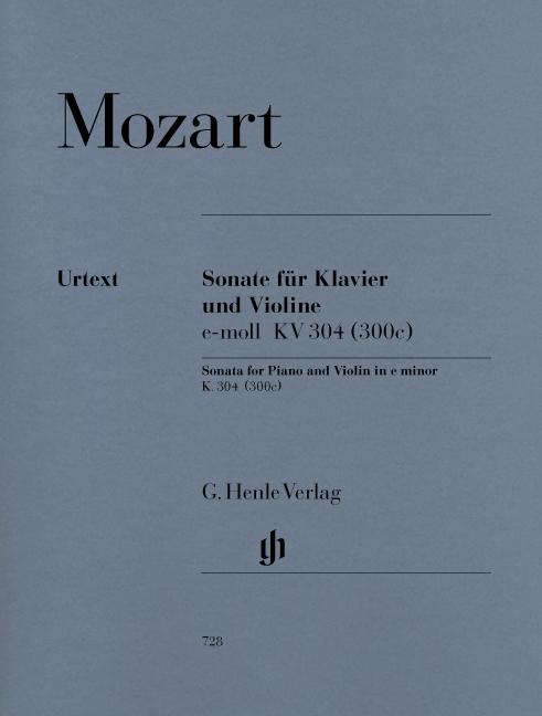 Wolfgang Amadeus Mozart: Violin Sonata In E Minor K.304: Violin: Instrumental