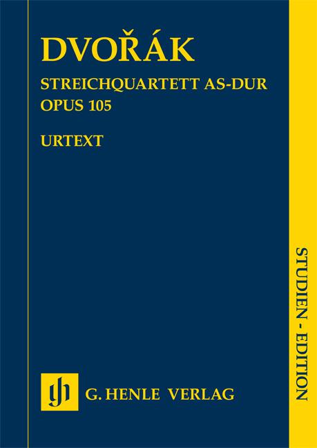 Antonín Dvo?ák: String Quartet In A Flat Op.105: String Quartet: Study Score