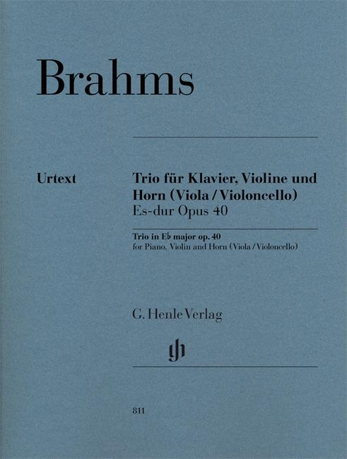 Johannes Brahms: Horn Trio E Flat Major Op. 40 (Score/Parts): Chamber Ensemble: