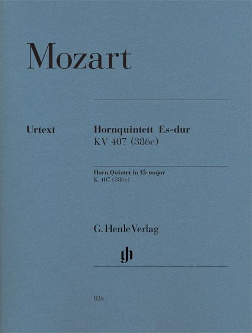 Wolfgang Amadeus Mozart: Horn Quintet In E flat K.407: Ensemble: Parts