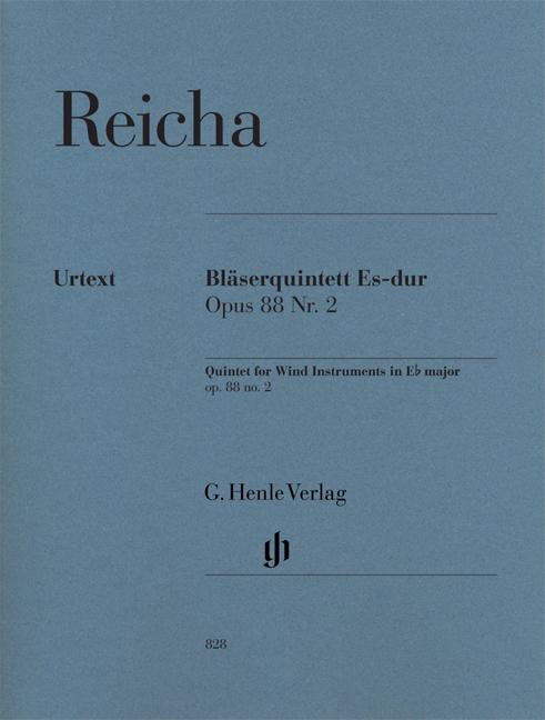Anton Reicha: Bläserquintett Es-dur Opus 88 Nr. 2: Wind Ensemble: Parts