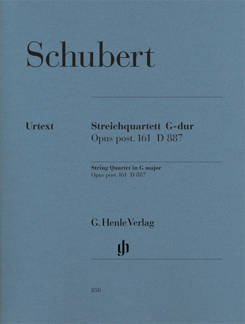 Franz Schubert: Steirquartett G Dur Op Post 161 D 887: String Quartet: Parts