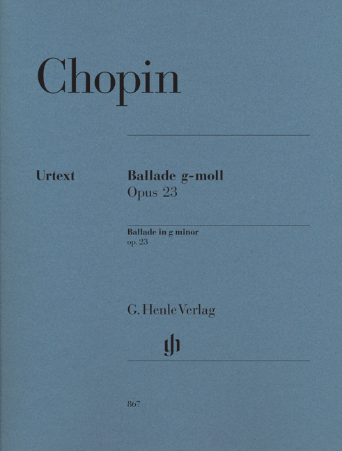 Frédéric Chopin: Ballade In G Minor Op.23: Piano: Instrumental Work