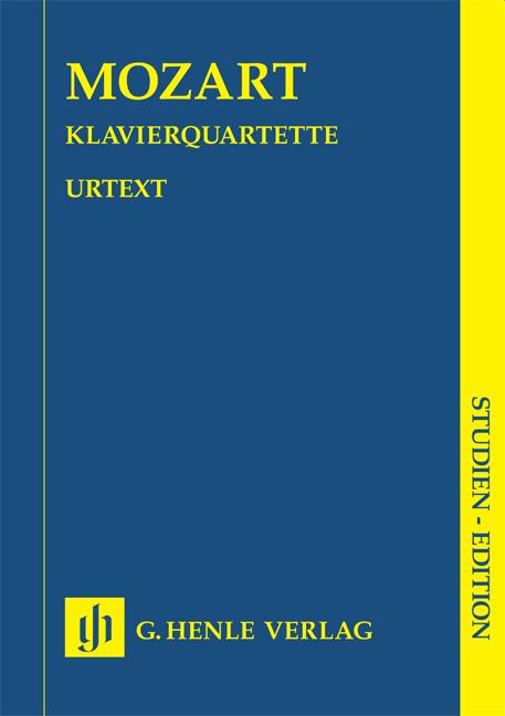 Wolfgang Amadeus Mozart: Klavierquartette K. 478 and 493: Piano Quartet: Study