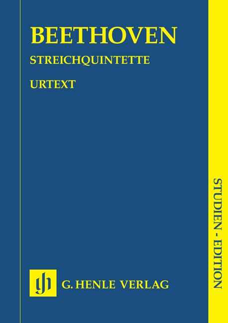 Ludwig van Beethoven: String Quintets: String Quintet: Study Score