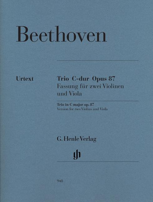 Ludwig van Beethoven: Trio In C Op.87 - Parts: String Trio: Parts