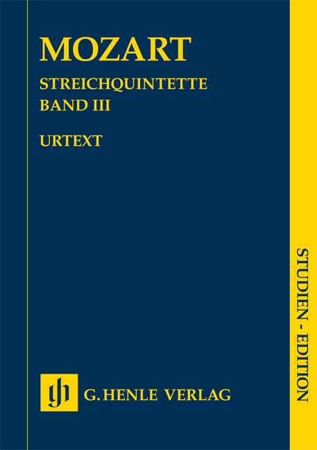 Wolfgang Amadeus Mozart: Streichquintette Band III - Urtext: String Quintet: