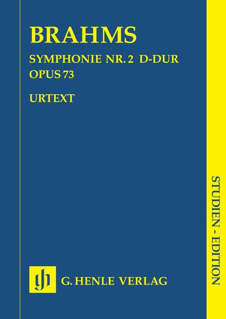 Johannes Brahms: Symphony No.2 In D Op.73: Orchestra: Score