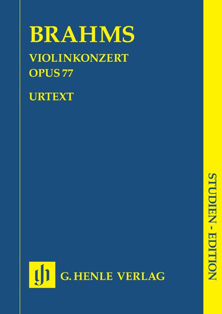 Johannes Brahms: Violin Concerto D major op. 77: Violin: Score