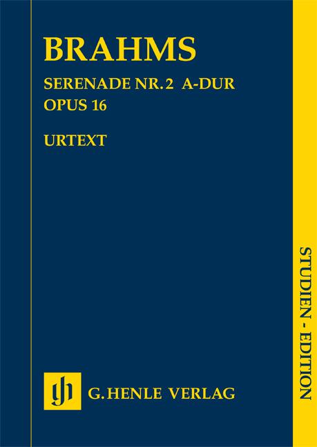 Johannes Brahms: Serenade No. 2 In A Major OP 16: Orchestra: Study Score