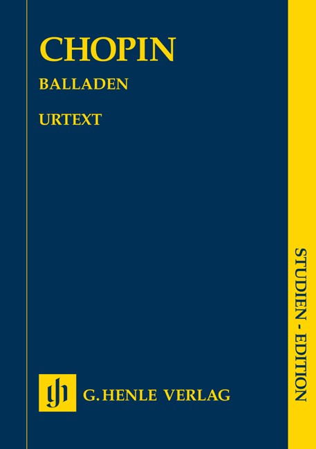 Frédéric Chopin: Ballades: Piano: Study Score