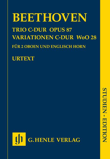 Ludwig van Beethoven: Trio In C Op.87/Variations In C WoO 28: Oboe Ensemble:
