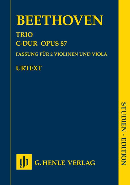 Ludwig van Beethoven: Trio In C Op.87 - Study Score: String Trio: Study Score