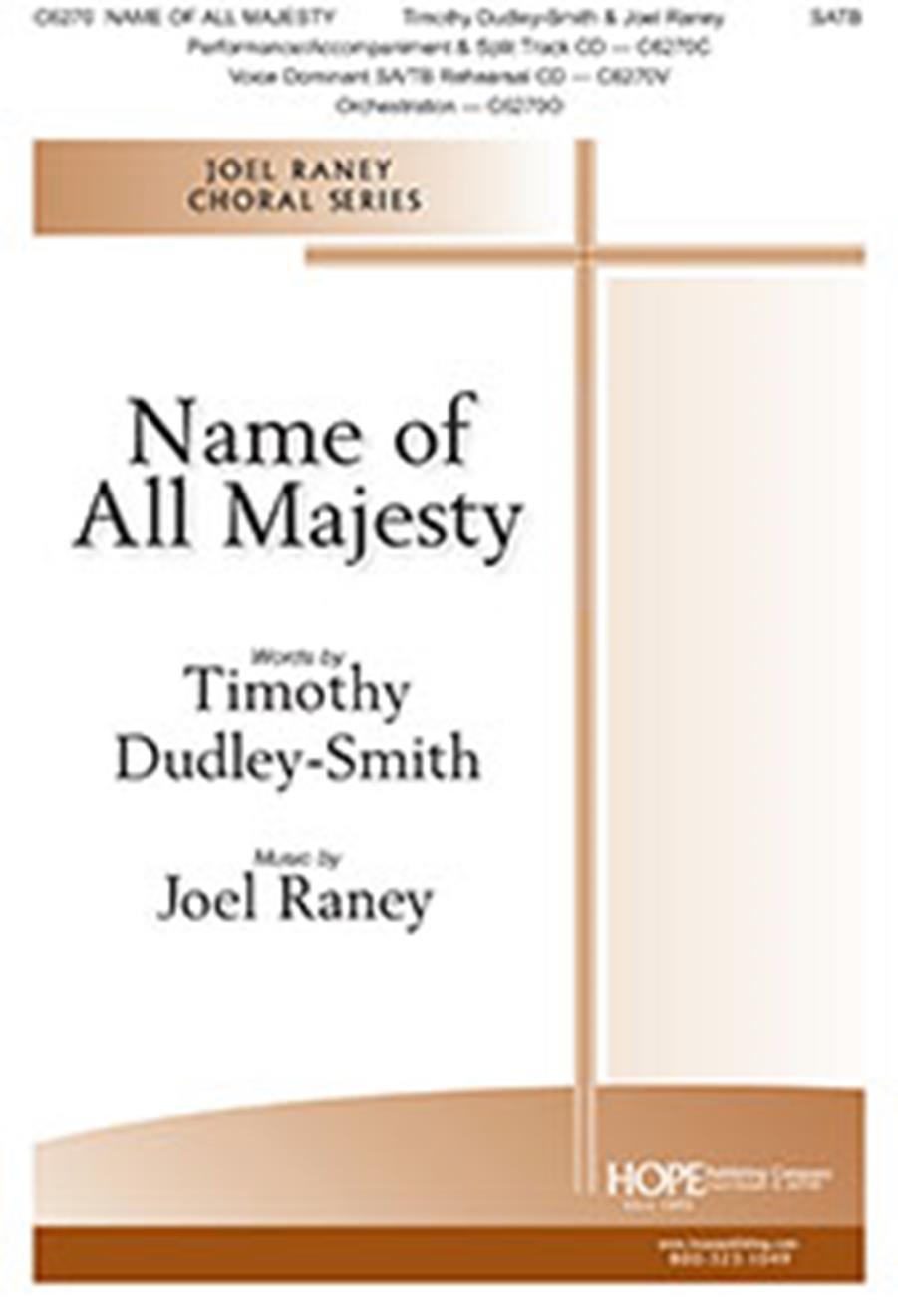 Lloyd Larson: Name of All Majesty: SATB: Vocal Score