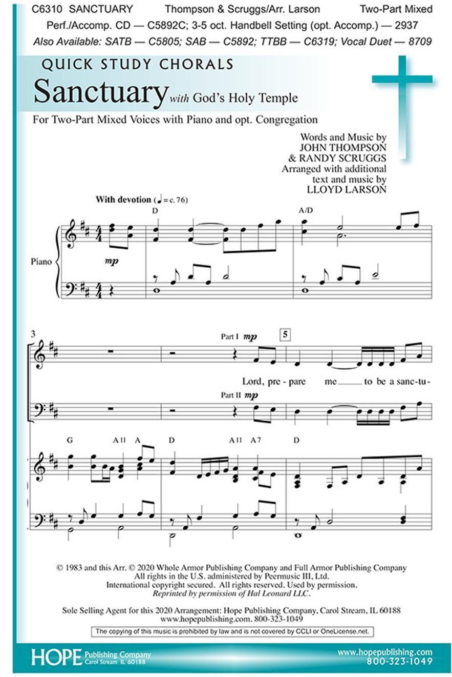 Sanctuary: 2-Part Choir: Vocal Score