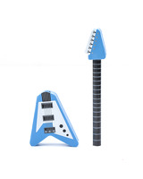 Guitar Pencil and Eraser Mix Red or Blue: Stationery