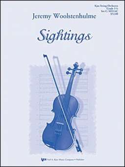 Jeremy Woolstenhulme: Sightings: String Orchestra: Score and Parts