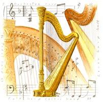Little Snoring Gifts: Fridge Magnet - Harp: Ornament